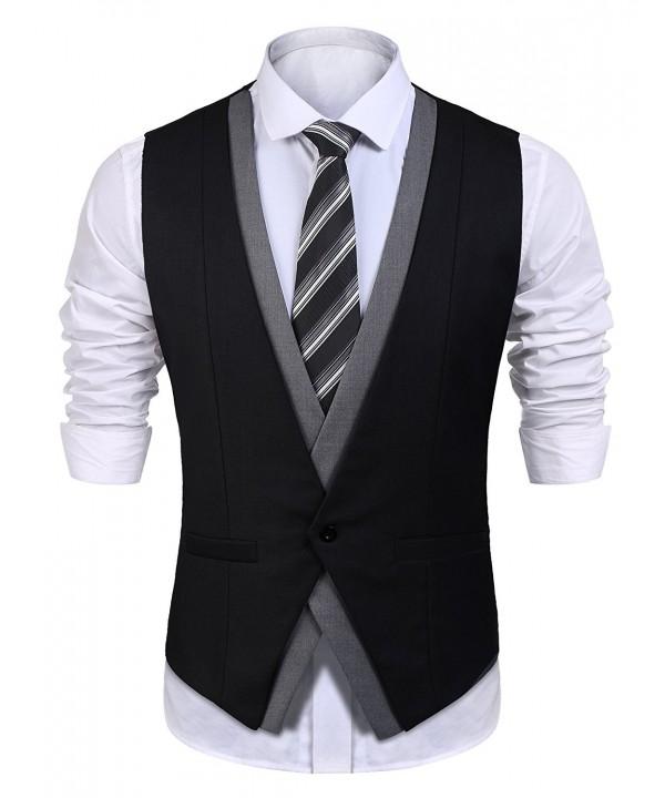 Detailorpin Business Casual Wedding Waistcoat