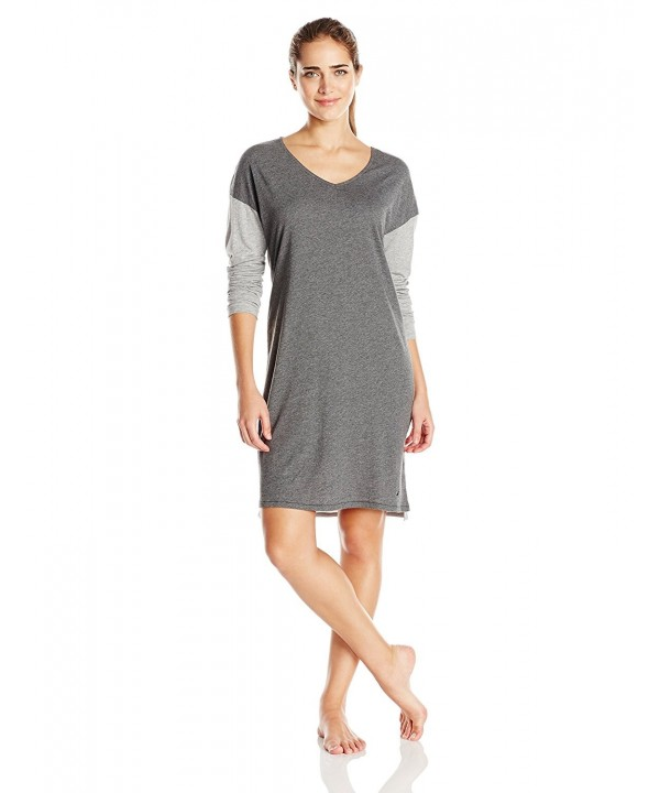 Nautica Womens Cotton Sleepshirt Heather