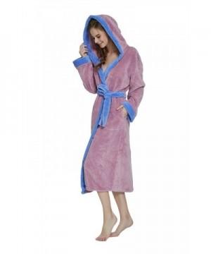 Womens Hooded Bathrobe OUFANG X Large