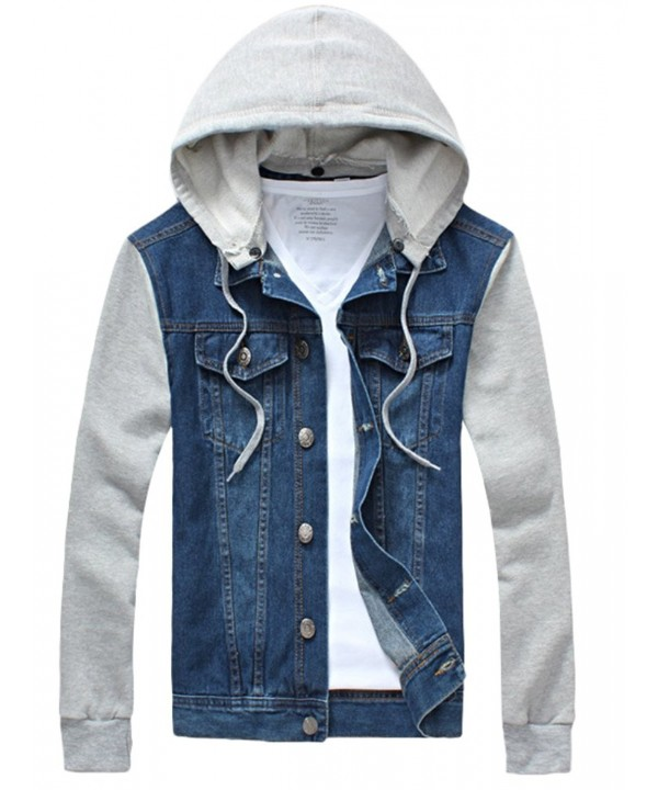 Vogstyle Hoodie Jacket Casual Button