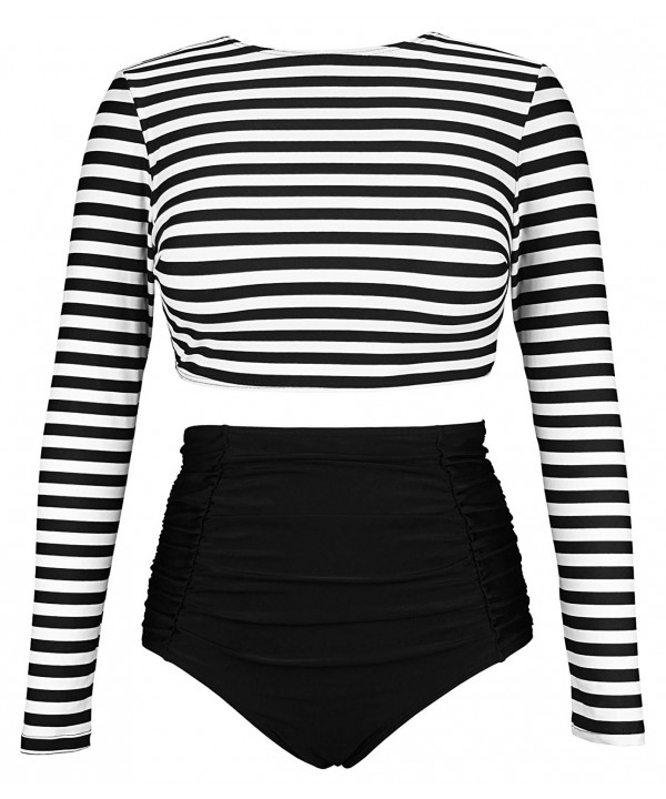 COCOSHIP Striped Multi Purpose Tankinis Swimsuit