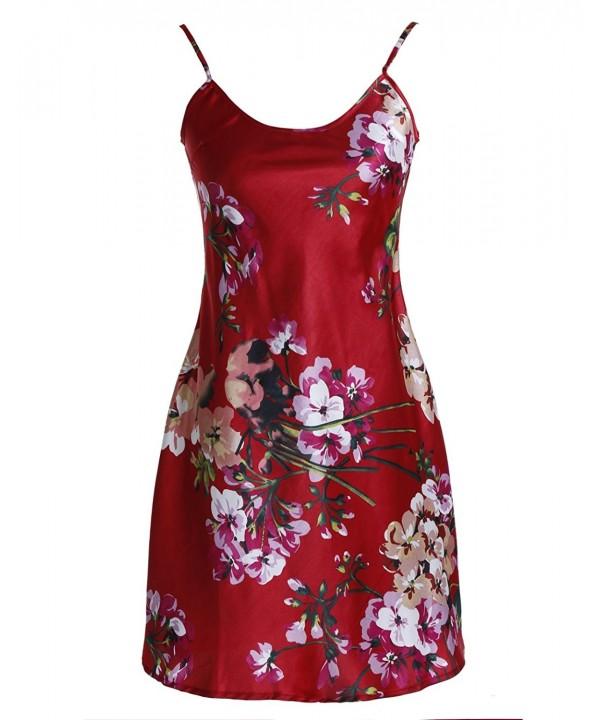 Find Dress Nightshirts Sleepwear DI20010 Burgundy L