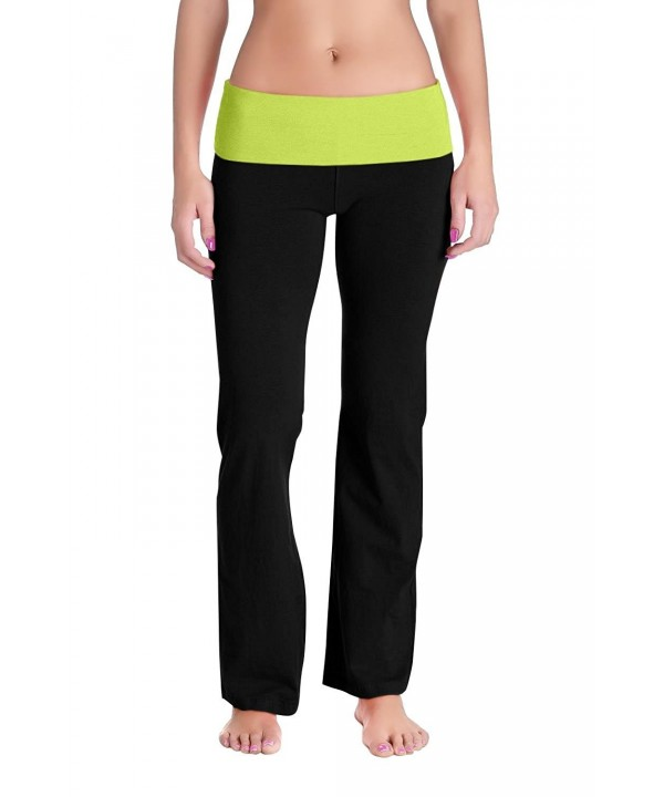 Womens Fold Waistband Sweat Pants