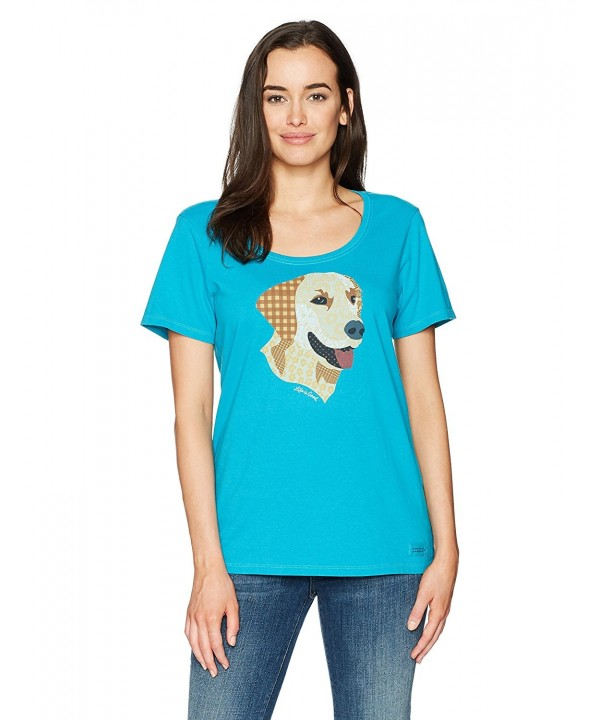 Life Crusher Patchwork T Shirt Turquoise