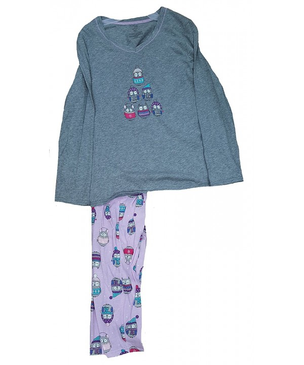 Winter Print Bottoms Piece Pajama