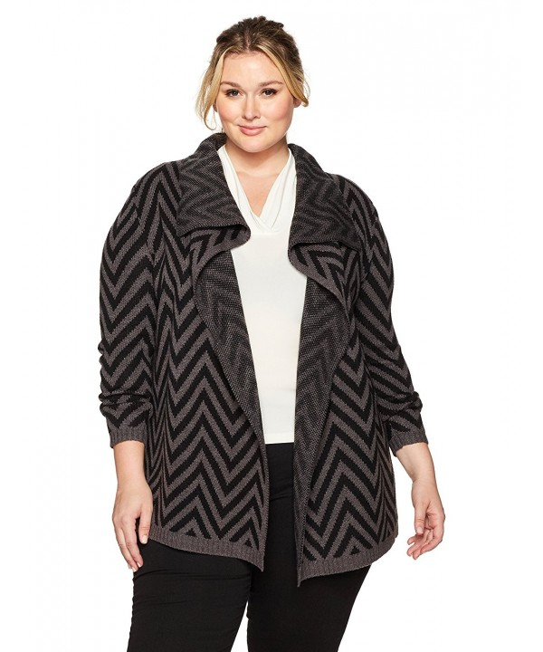 Napa Valley Chevron Jacquard Cardigan