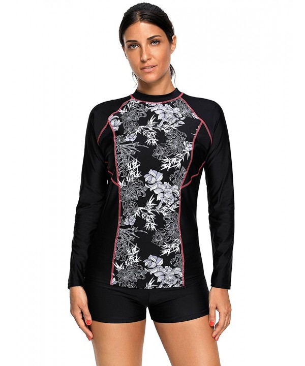 Maketina Womens Rashguard Swimwear Athletic