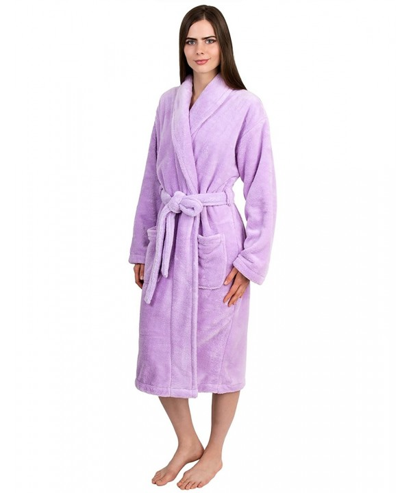 TowelSelections Womens Bathrobe Fleece Lavender