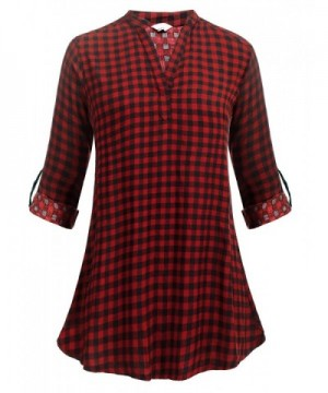 Zeagoo Womens Tailored Collared Flannel