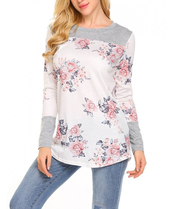 Moafvor Womens Sleeve Floral T Shirts