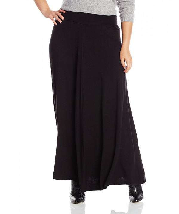 Womens Plus size Solid Skirt black