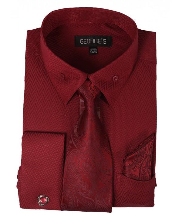 Georges Matching Cufflink Burgundy 2 36 37