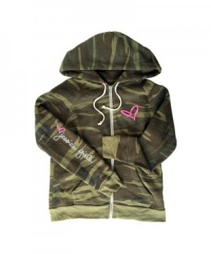 Jessies Printed Eco Fleece Zip up Hoodie