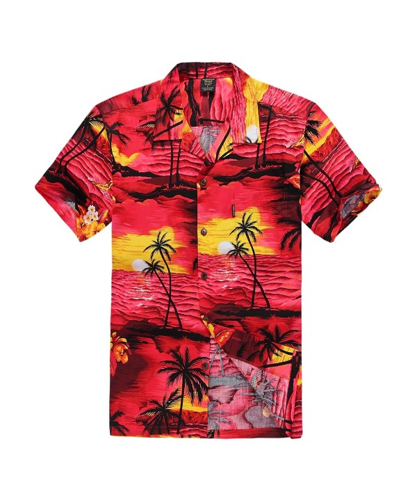 Palm Wave Hawaiian Shirt Sunset