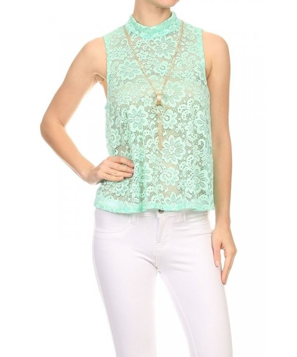 ShoSho Womens Crochet Shoulder Blouses