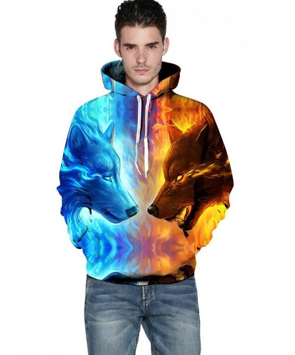 Nessere Digital Realistic Pullover Sweatshirt