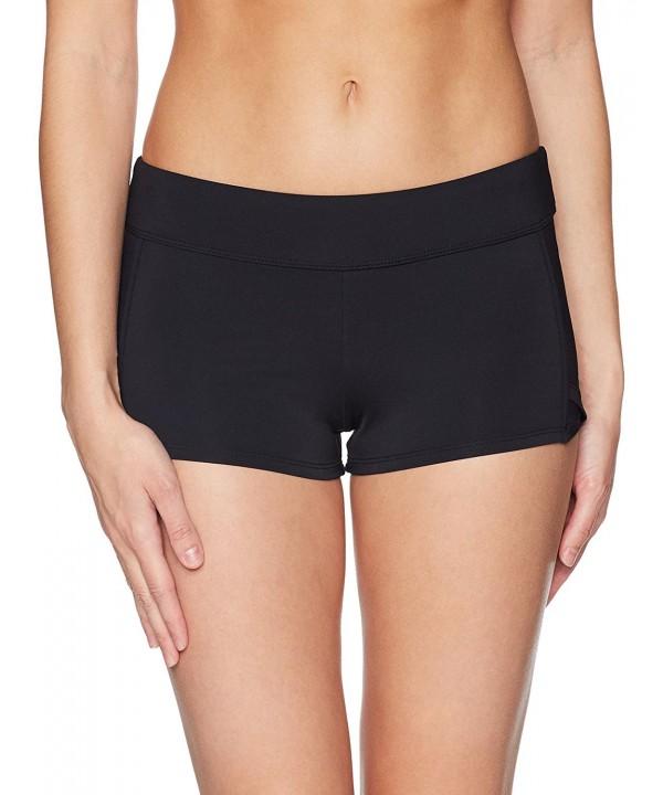 365a53660dd10 Women s Sport Solid Dolphin Boy Leg Bikini Bottom Swimsuit - Black ...