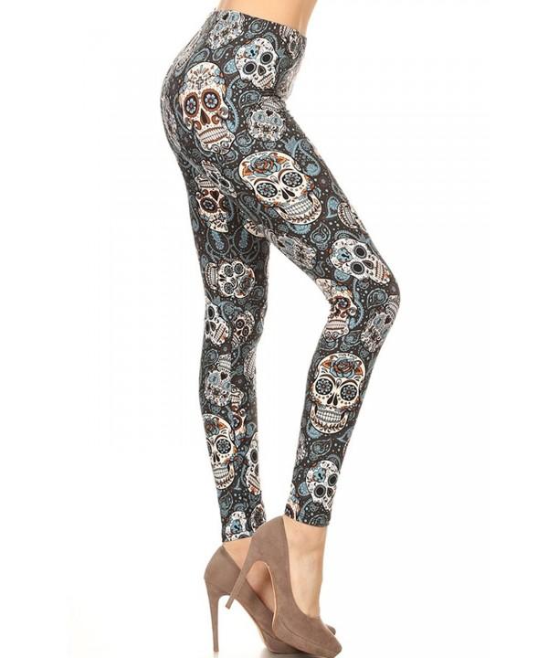 Printed Leggings Speaking Skulls S115 OS