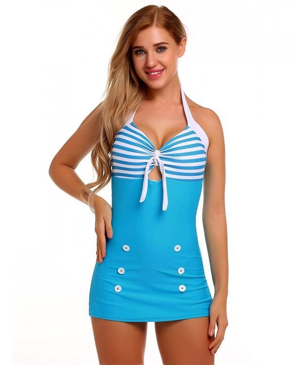 Esqlotre Swimsuit Striped Contrast Boyshorts