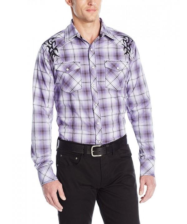 Wrangler Sleeve Button Purple X Large