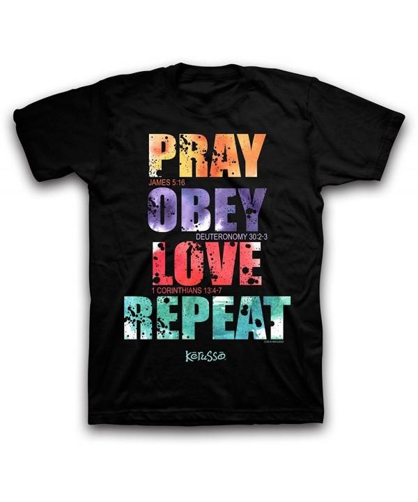 Pray Obey Love repeat Black