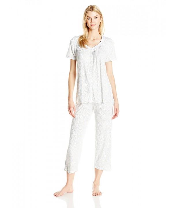 Aria Womens Capri Pajama Floral