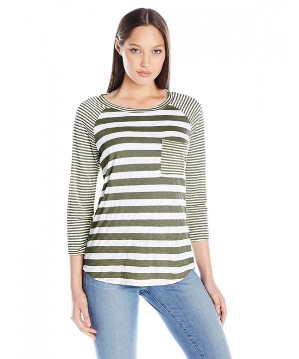 Michael Stars Womens Stripe Raglan