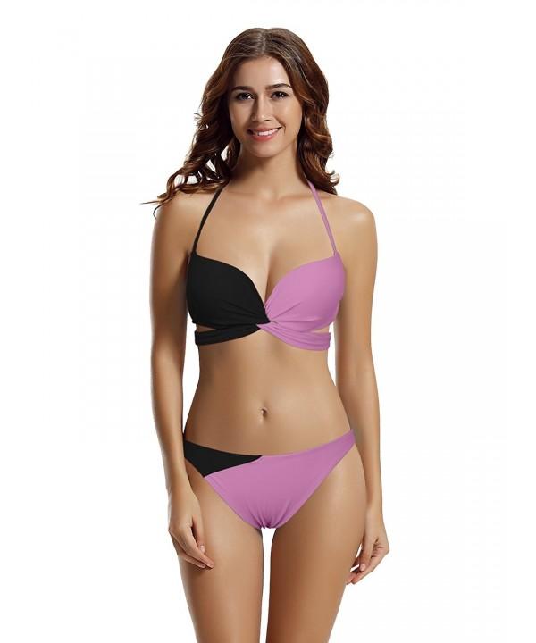 zeraca Womens Halter Bikini Bathing