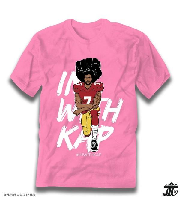 0d66e3701 IMWITHKAP Colin Kaepernick Kneeling Premium T-Shirt - Azalea Pink ...