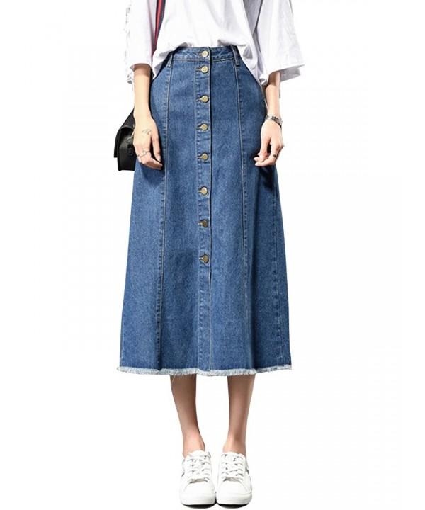 Gooket Womens Juniors Button Skirts