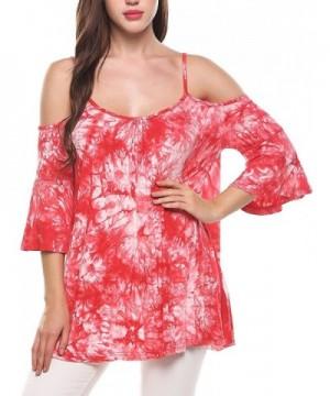 Naggoo Womens Ruffle Sleeve T Shirt