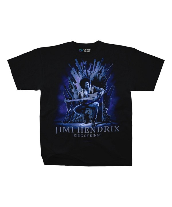 Jimi Hendrix Guitar Adult T Shirt