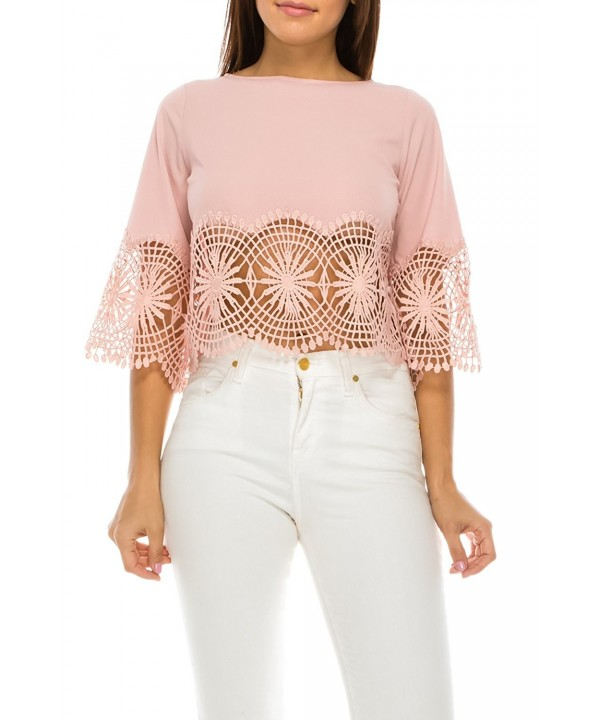 StyleEvery1 Casual Sleeve Crochet Summer