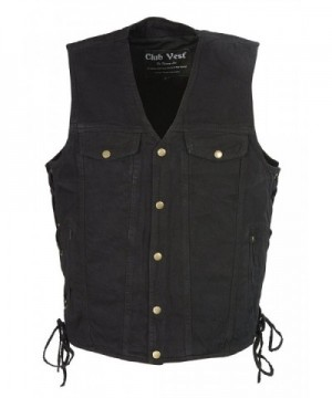 Club Vest Denim Chest Pockets