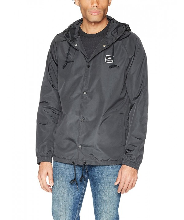 RVCA Hooded Coach Jacket Black