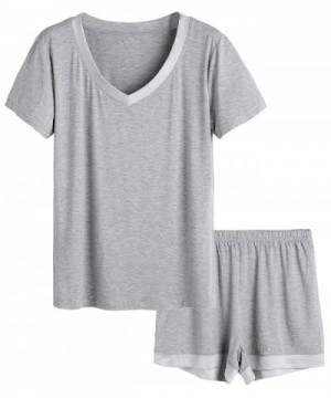 Latuza Womens V neck Sleepwear Sleeve