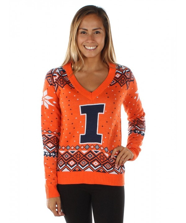Womens University Illinois Sweater XX Large