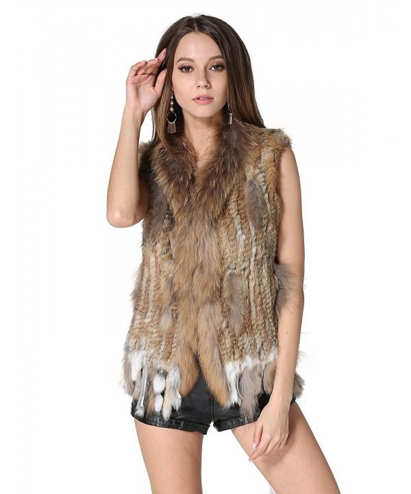 MEEFUR Rabbit Raccoon Knitted Waistcoat