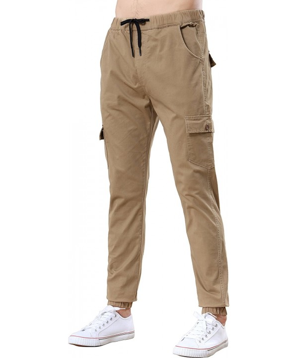 Benkii Mens Chino Joggers Pants