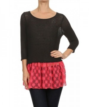2LUV Womens Sleeve Contrast Colored
