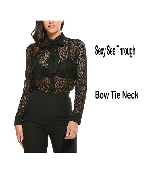 Goodfans Womens Button Collar Through