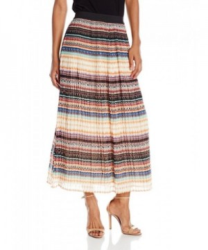 Notations Printed Pleated Waistband Everglade