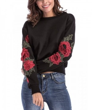 Jubileens Sweatshirts Embroidered Pullover sweater