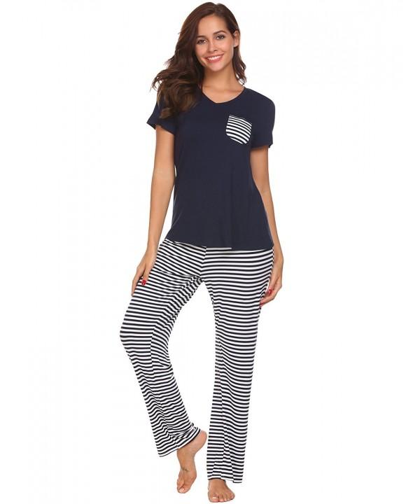Donkap Pajama Womens Sleeve Sleepwear