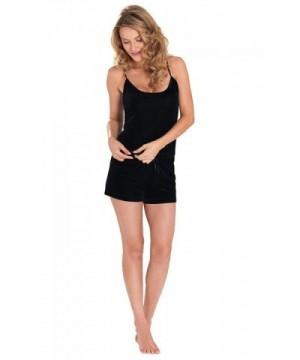 PajamaGram Black Velour Short Pajamas
