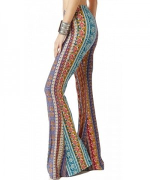 Domple Women Floral Bell Bottoms Bodycon