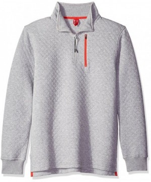 Unionbay Quilted Quarter Sweatshirt Heather