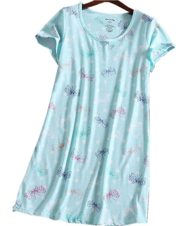 Amoy madrola Nightgown XTSY109 Blue Butterfly L