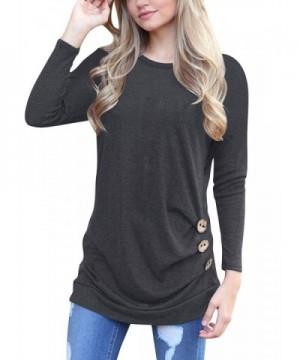 Dreamtravel Womens Sleeve Button T Shirt