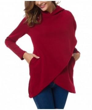 LSAME Sweatshirt Asymmetric Pullover Hoodies